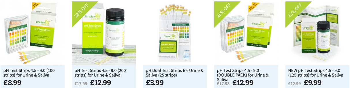 Simplexhealth pH Test Strips