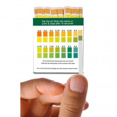 pH Test Strips for Urine & Saliva