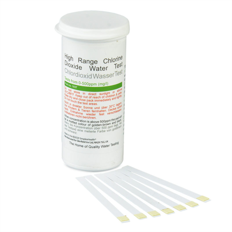 Chlorine Dioxide 0-500ppm (50 Tests)