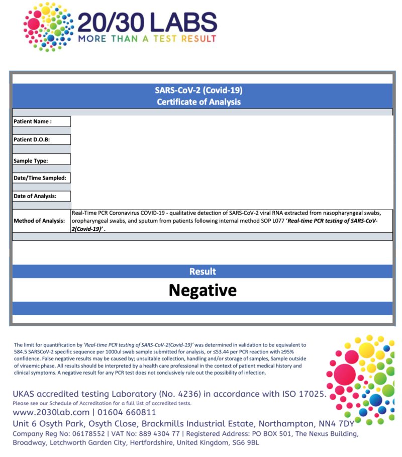 Test to Release Covid-19 RT-PCR Swab Home Test Kit