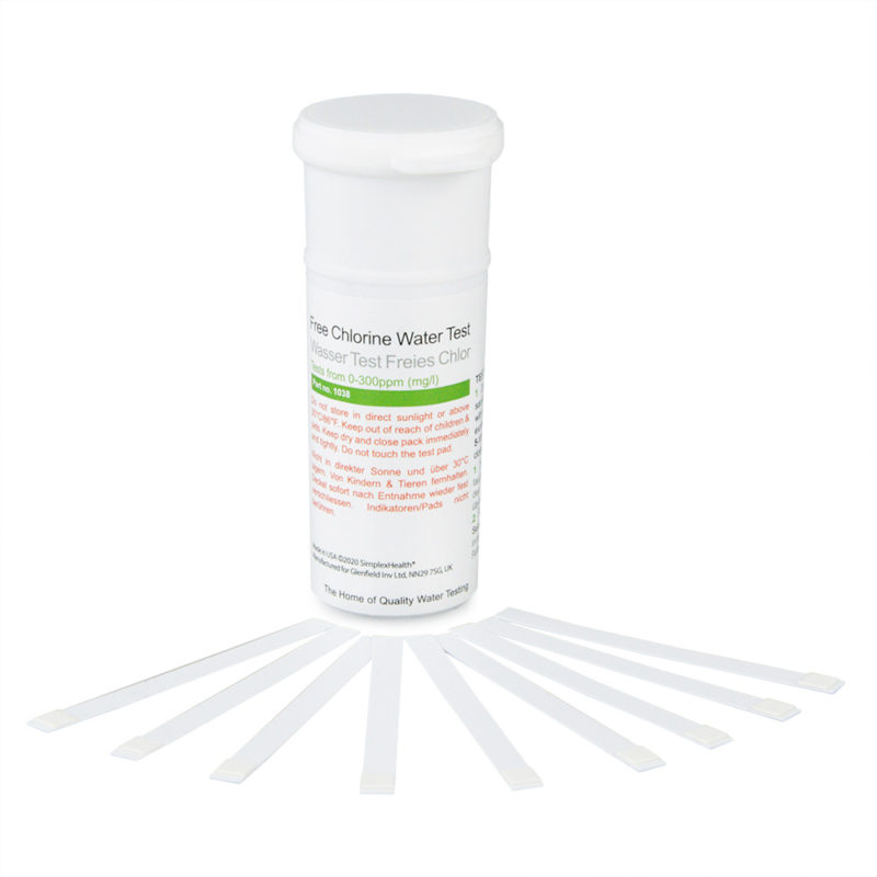Free Chlorine 0-300ppm (50 Strips)