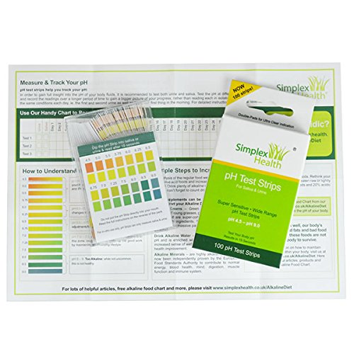 pH Test Strips 4.5 - 9.0 (100 strips) for Urine & Saliva