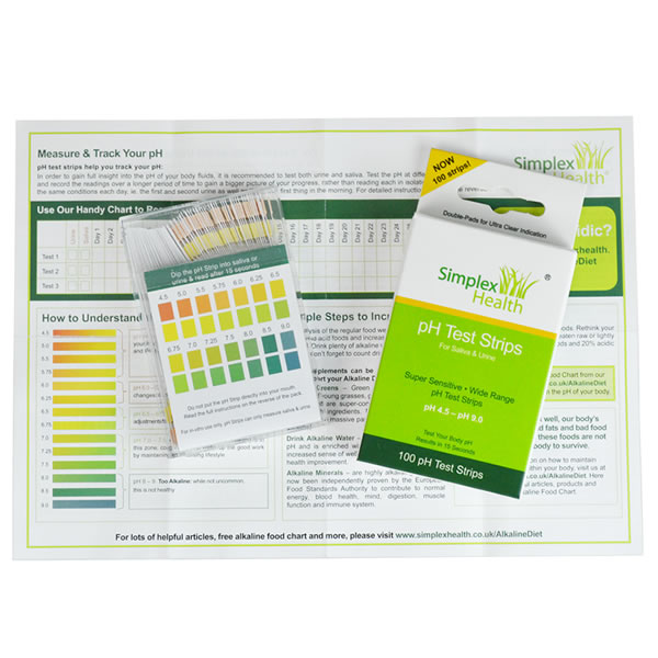 pH Test Strips 4.5 - 9.0 (DOUBLE PACK) for Urine & Saliva