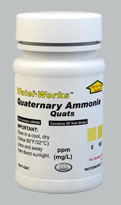 "Quaternary ""Quats"" Ammonia 0-1000ppm (50 tests)"