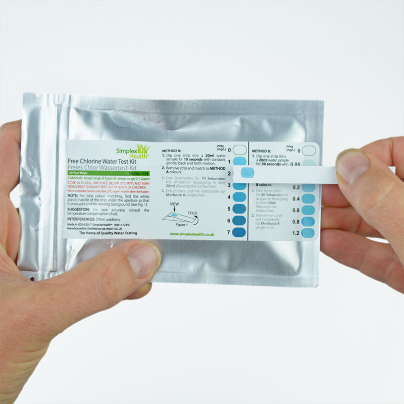 Simplexhealth Free Chlorine 0-7ppm (30 strips Pouch)