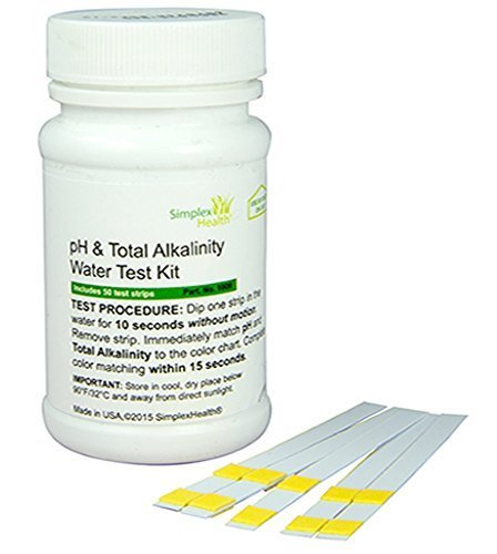 SimplexHealth pH & Total Alkalinity Test (50 strips)