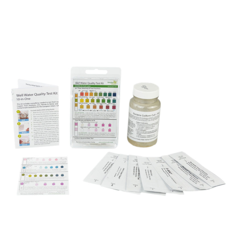 SimplexHealth Water Quality Test Kit 10-in-One