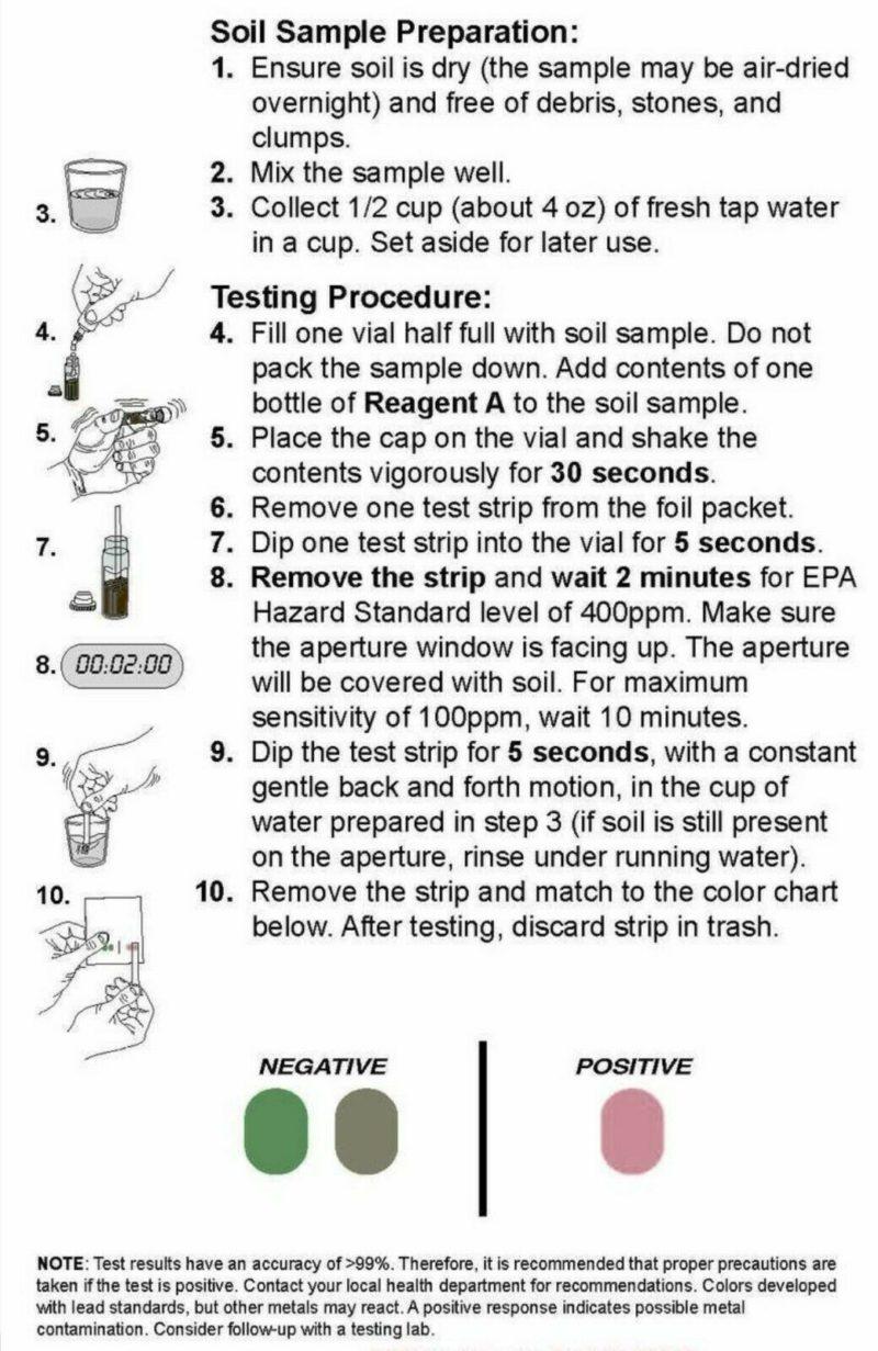 Soil Test Kit for Lead (5 tests)
