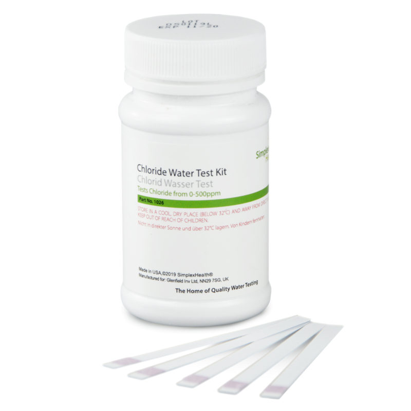 Water Chloride Test 0-500ppm (50 strips)
