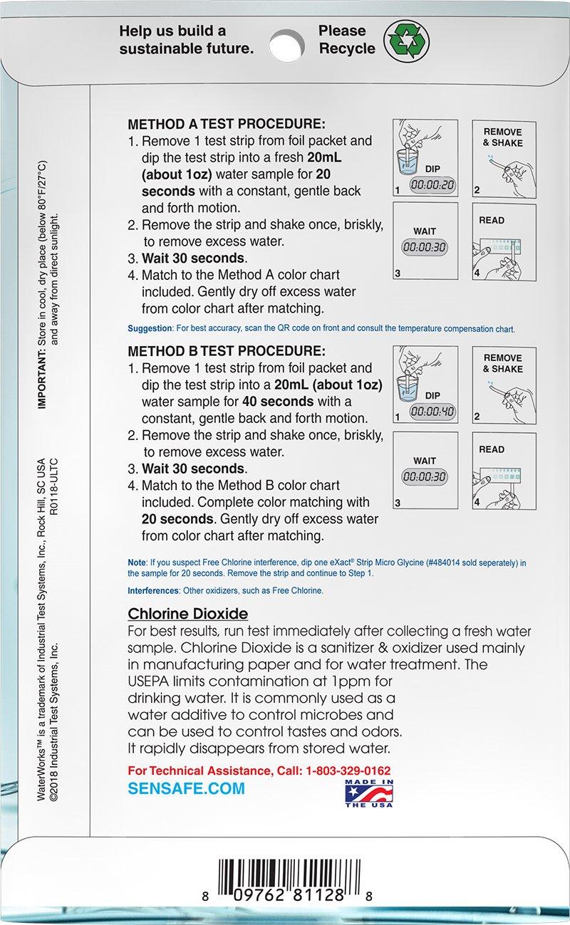 Water Low Range Chlorine Dioxide 0-1.6ppm (30 Tests)