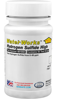 Water Hydrogen Sulfide High Range (50 strips)
