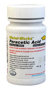 Water Peracetic Acid 0-100ppm (50 tests)
