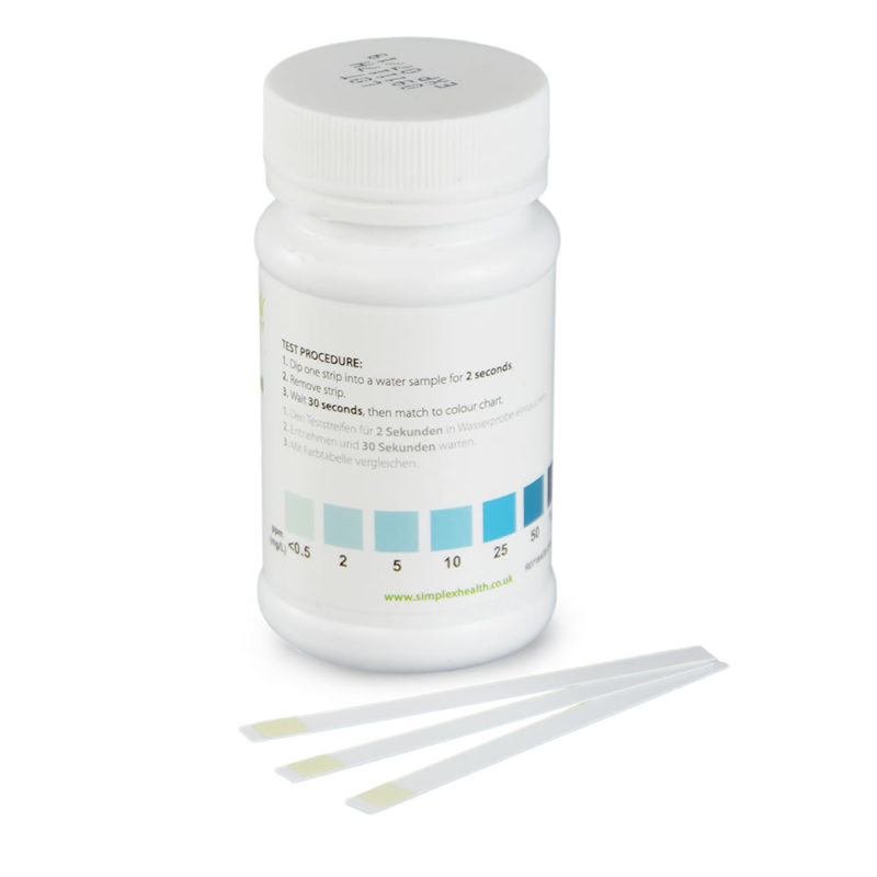 Water Peroxide Check 0.5-100ppm (50 tests)
