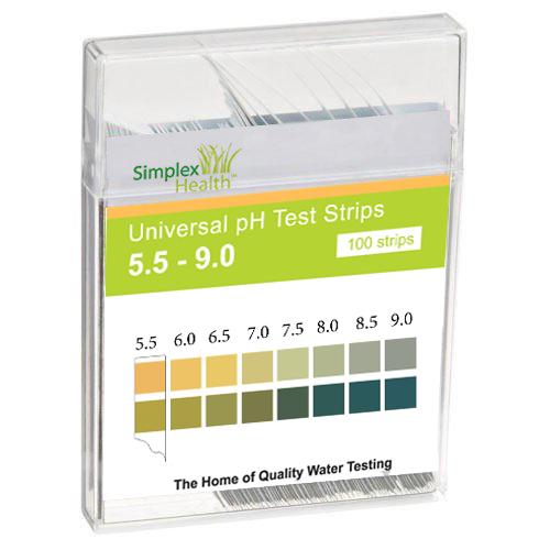 Water pH Test Strips 5.5 - 9.0 (100 strips)