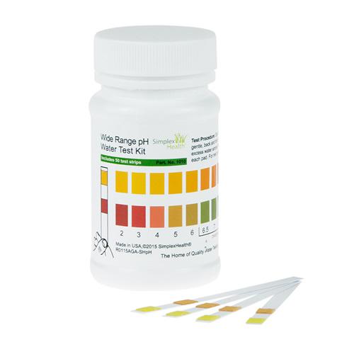 Water Wide Range pH Test Strips 2-12 (50 tests)