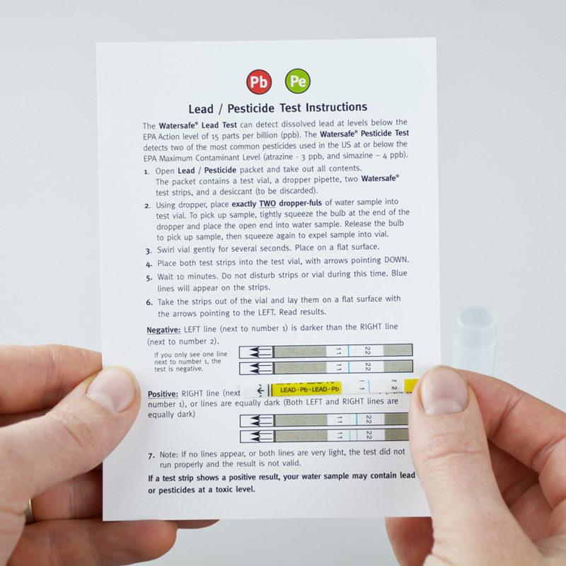 Watersafe Water Lead & Pesticides Test Kit (Single)