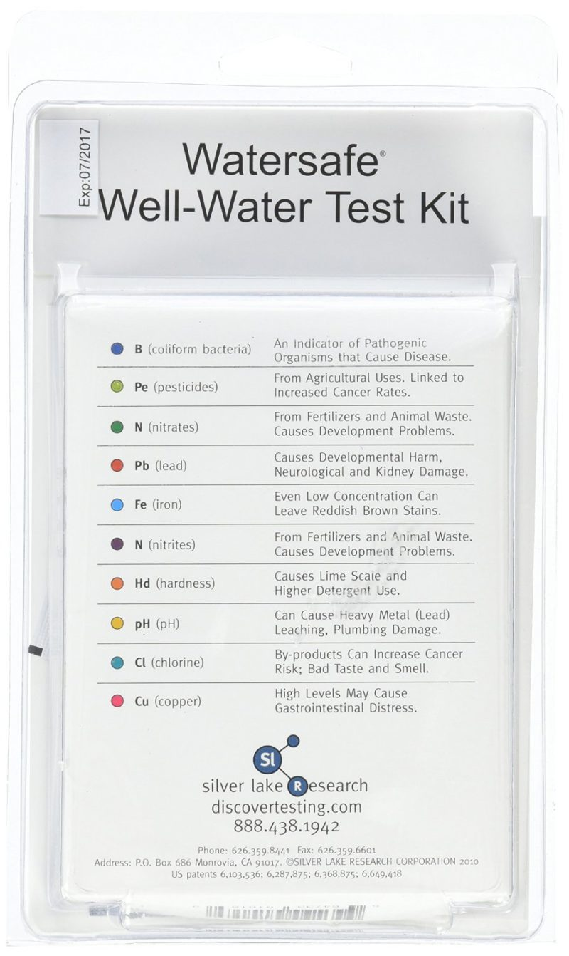 Watersafe Well Water Test Kit 10-in-One