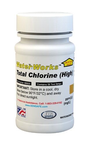Water Total Chlorine High Test 0-80ppm (50 strips)