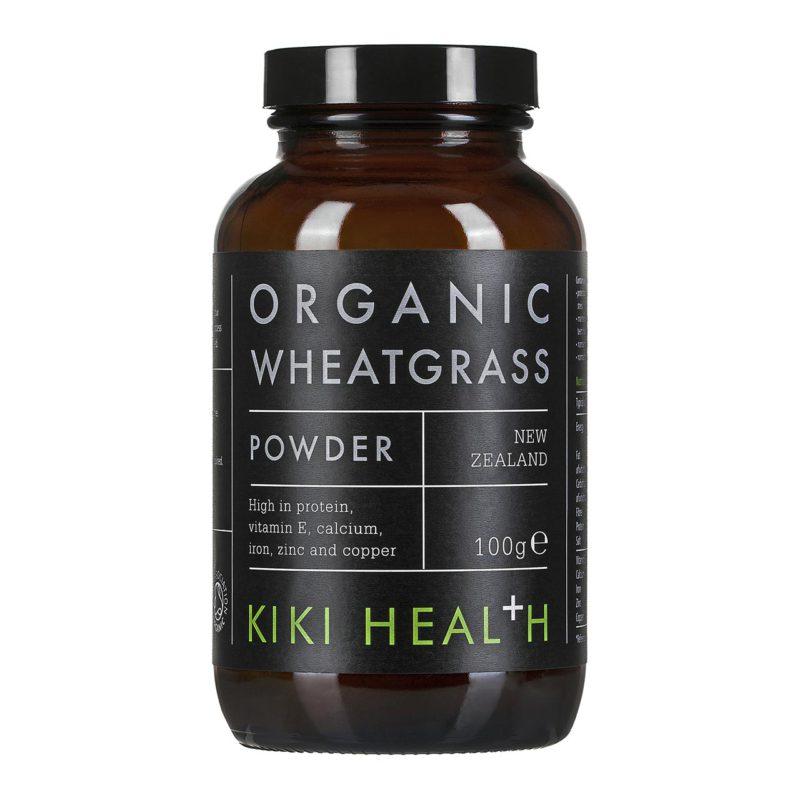 Wheatgrass Powder, Organic by Kiki Health (100g)